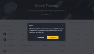 Binance Cancel Stock Token